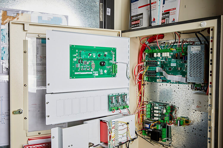 Open electrical panel