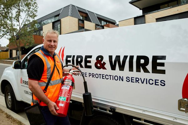 Fire and Wire fire protection team at work
